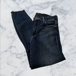 Mother High Waisted Looker Ankle Fray Jeans  W 26
